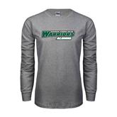 Grey Long Sleeve T Shirt-Alumni - Wisconsin Lutheran College Warriors
