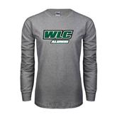 Grey Long Sleeve T Shirt-Alumni - WLC