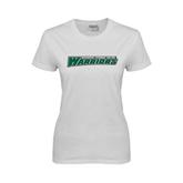 Ladies White T Shirt-Wisconsin Lutheran College Warriors