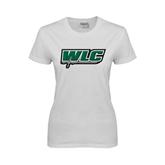 Ladies White T Shirt-WLC w/ Sword