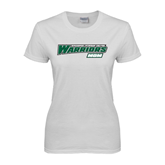 Ladies White T-Shirt-Mom - Wisconsin Lutheran College Warriors