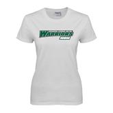 Ladies White T Shirt-Mom - Wisconsin Lutheran College Warriors