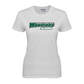 Ladies White T Shirt-Alumni - Wisconsin Lutheran College Warriors