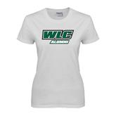 Ladies White T Shirt-Alumni - WLC