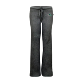 ENZA Ladies Dark Heather Fleece Pant-WLC Diagonal w/ Sword