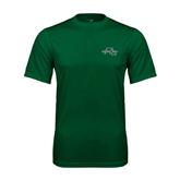 Performance Dark Green Tee-WLC Diagonal w/ Sword