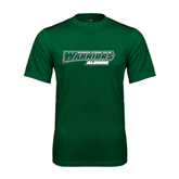 Performance Dark Green Tee-Alumni - Wisconsin Lutheran College Warriors
