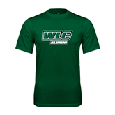 Performance Dark Green Tee-Alumni - WLC