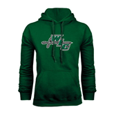 Dark Green Fleece Hood-WLC Diagonal w/ Sword