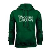 Dark Green Fleece Hood-Wisconsin Lutheran College Stacked