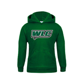 Youth Dark Green Fleece Hoodie-WLC w/ Sword