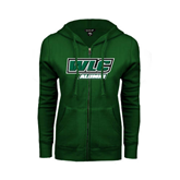 ENZA Ladies Dark Green Fleece Full Zip Hoodie-Alumni - WLC