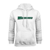 White Fleece Hoodie-Warriors