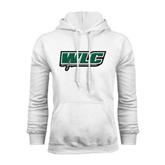 White Fleece Hoodie-WLC w/ Sword