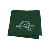 Dark Green Sweatshirt Blanket-WLC Diagonal w/ Sword