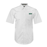 White Twill Button Down Short Sleeve-WLC