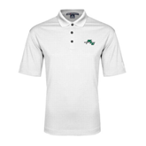 White Performance Fine Jacquard Polo-WLC Diagonal w/ Sword