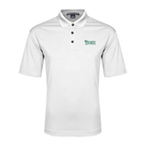 White Performance Fine Jacquard Polo-Wisconsin Lutheran College Stacked