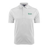 White Dry Mesh Polo-Wisconsin Lutheran College Stacked