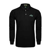 Black Long Sleeve Polo-WLC Diagonal w/ Sword