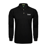 Black Long Sleeve Polo-Wisconsin Lutheran College Stacked