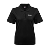 Ladies Easycare Black Pique Polo-Wisconsin Lutheran College Stacked
