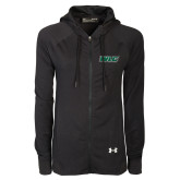 Ladies Under Armour Black Varsity Full Zip Hoodie-WLC