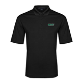 Black Performance Fine Jacquard Polo-WLC