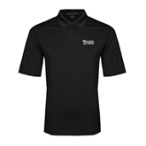 Black Performance Fine Jacquard Polo-Wisconsin Lutheran College Stacked