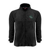 Fleece Full Zip Black Jacket-WLC Diagonal