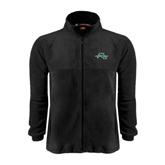 Fleece Full Zip Black Jacket-WLC Diagonal w/ Sword