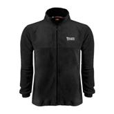 Fleece Full Zip Black Jacket-Wisconsin Lutheran College Stacked