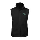 Fleece Full Zip Black Vest-WLC Diagonal