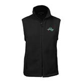 Fleece Full Zip Black Vest-WLC Diagonal w/ Sword