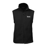 Fleece Full Zip Black Vest-Wisconsin Lutheran College Stacked