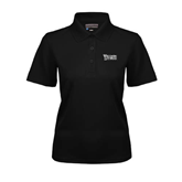 Ladies Black Dry Mesh Polo-Wisconsin Lutheran College Stacked