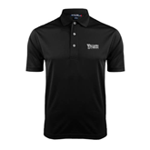 Black Dry Mesh Polo-Wisconsin Lutheran College Stacked