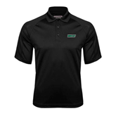 Black Textured Saddle Shoulder Polo-WLC