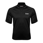 Black Textured Saddle Shoulder Polo-Wisconsin Lutheran College Stacked