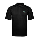 Black Mini Stripe Polo-WLC Diagonal w/ Sword