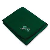 Dark Green Arctic Fleece Blanket-WLC Diagonal w/ Sword
