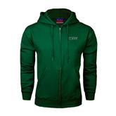 Dark Green Fleece Full Zip Hoodie-WLC
