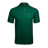 Dark Green Pique Polo-WLC Diagonal