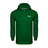 Under Armour Dark Green Performance Sweats Team Hood-Wisconsin Lutheran College Stacked