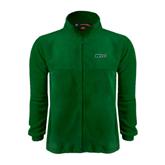 Fleece Full Zip Dark Green Jacket-WLC