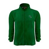 Fleece Full Zip Dark Green Jacket-WLC Diagonal