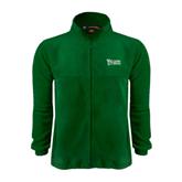 Fleece Full Zip Dark Green Jacket-Wisconsin Lutheran College Stacked