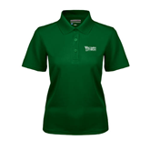Ladies Dark Green Dry Mesh Polo-Wisconsin Lutheran College Stacked