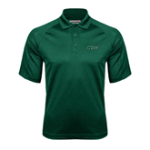 Dark Green Textured Saddle Shoulder Polo-WLC