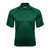 Dark Green Textured Saddle Shoulder Polo-WLC Diagonal